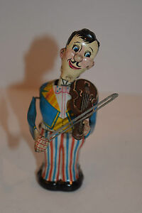 rare 1950 s marx tin litho windup violin