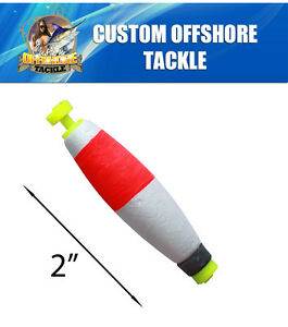 24 Cigar Weighted Snap On Floats Rigging Lures Fishing Tackle 2quot;