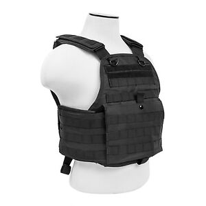NcStar BLACK Police Military Tactical MOLLE  PALs Adj Plate Carrier Vest