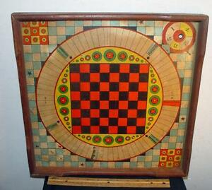 late 1800s bros 2 sided board game checkers
