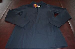 NWT Womens Under Armour Cold GEAR Infrared Semi Fitted Wind Golf Zip Front Shirt