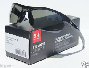 UNDER ARMOUR Stride XL POLARIZED Sunglasses BlackGrey NEW SportCycle $125