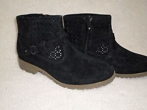 70% OFF NEW #1010105 TEVA WOMENS DELAVINA ANKLE PERFORATED BOOT SZ 7 BLACK $35.99