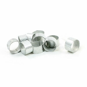 Silver Tone Tailors Sewing Texturing Reeded Round Thimble 10 Pcs $8.81