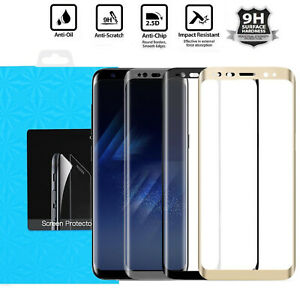 Full Cover Tempered Glass Screen Protector For Samsung Galaxy S9 S8 S7 Edge Plus