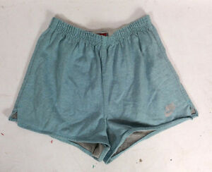 Vintage 80s Nike Gray Tag Rayon Tri Blend Shorty Shorts Running Cycling Surf L