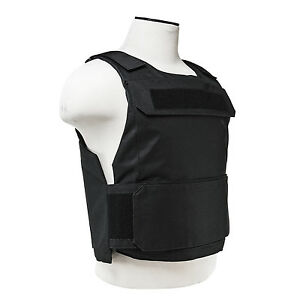 NcStar Discreet Lightweight Plate Carrier Tactical Vest Police SWAT XSM-S BLACK