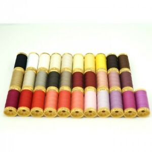 Gutermann Sewing Thread 100% Natural Cotton 250m Reels In 31 Colours 1 GBP 7.85