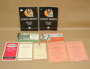 Vtg Lyman Sights Gun Rifle Scope Compensator Ideal Reloading Brochures Books Lot