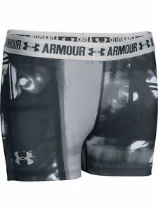 NWT Girls Under Armour 1271026 HeatGear Armour Printed Shorts XS -FREE SHIPPING-