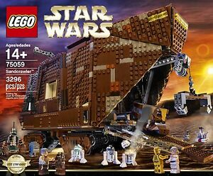 BRAND NEW! LEGO Star Wars 75059 Sandcrawler SEALED 3296 Pieces (RETIRED)