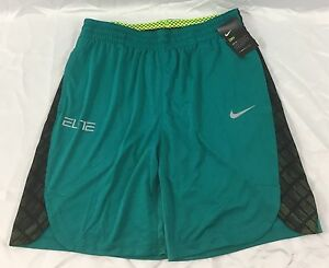 Nike MENS Athletic Basketball Loose Shorts Teal Black Mesh Neon 776119 Size L