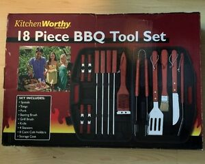 BBQ Tool Set  with Case NEW 18 Piece