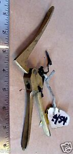 45 Caliber Vintage Brass Hand Reloading Tool De-Priming Tool Crown RR Markings