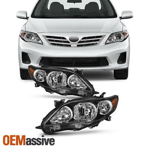 Fit 2011-2013 Toyota Corolla Headlights Replacement Lamps Light Left+Right
