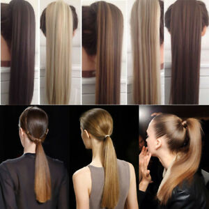 US Post Real Clip In Like Real Hair Extension Pony Tail Wrap Around Ponytail US $10.79