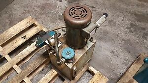 Rexroth 2 HP Hydraulic Unit 5 Gal. Cap. 1PF2G2-40B05 HS43-A49-4389-A-0 Used