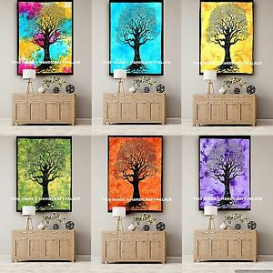 Large Indian Tree Of Life Tapestry Wall Hanging Boho Hippie Mandala Decor Throw