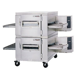 Lincoln 1400-FB2E Electric Double Stack Conveyor Oven W Fastbake