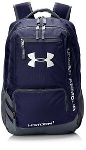Under Armour Storm Hustle II Backpack Navy Graphite Laptop Carrier One Size