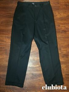 Nike DRI FIT GOLF khakis PLEATS black STRAIGHT FIT size: 3332