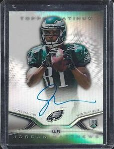 JORDAN MATTHEWS 2014 TOPPS PLATINUM REFRACTOR EAGLES ON CARD ROOKIE AUTO RC #12