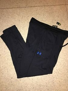 NWT Under Armour Top Flight Warm Up Fitness Pants Loose 1260689 001 BLACK