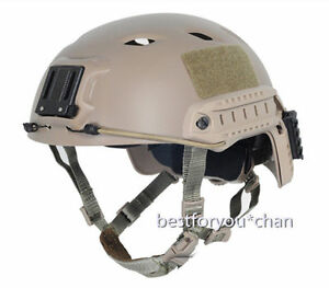 Airsoft Military FAST Base Jump BJ Adjustable Helmet Paintball Tactical DE LXL