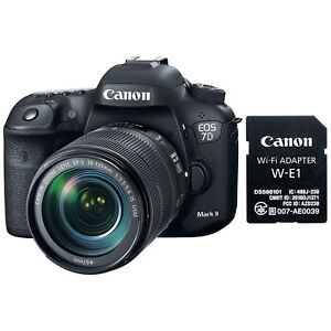 Canon EOS 7D Mark II DSLR Camera & EF-S 18-135mm IS STM Lens & Wi-Fi Adapter Kit