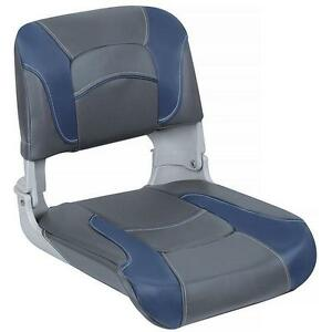 Clam Shell Fishing Seats Charcoal and Blue