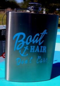 Boat Hair Don#x27;t Care Brushed Stainless Steel Flash with Anchor NEW