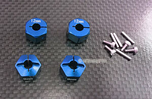 Alloy Hex Adapter 12mm x 9mm for HPI Mini Savage XS Flux $16.99