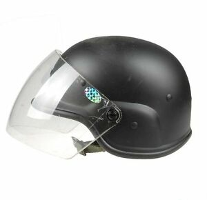 Military Tactical Airsoft M88 Pasgt Kelver Swat Helmet With Clera Visor  BLACK