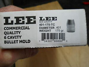 Lee 6 Cavity Bullet Mold  401-175-TC    .401 dia 175 gr. ....NIB  w Handles