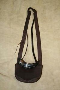 BlackPowderMuzzleloading Hand Laced Possible Bag with Powder Horn