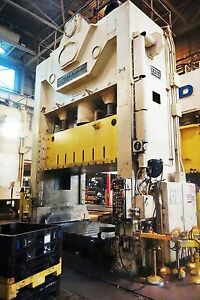 600 Ton USI Clearing Straight Side Presses For Sale - Used