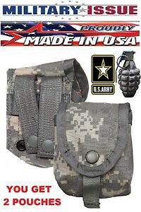 (2) Acu Digital Camo Military MOLLE II Hand Grenade Pouch  Molle Compass Pouch