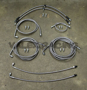 Complete Front & Rear Brake Line Replacement Kit 97-01 Honda CRV without ABS