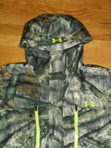 $ 400 NEW Mens XL Under Armour STORM3 Infrared Mossy Oak Gore-Tex Hunt Jacket