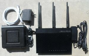 ASUS RT-N66R N900 + Motorola SB6121 Cable Modem Comcast TWC Internet WIFI Router