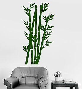 Vinyl Wall Decal Tree Nature Bamboo Chinese Japanese Home Decor Stickers (707ig)