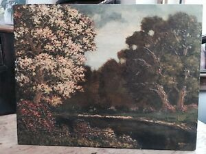 Antique Landscape Oil by listed Artist Leonard Rodowicz Signed FREE SHIPPING $150.00