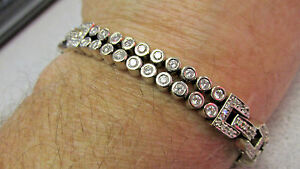 Nice  Diamond Tennis Bracelet   6.00 Carats  14k White Gold 8 inch   MAKE OFFER