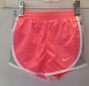 NWT Nike Girl's Dry Fit Stay Cool Shorts - Size 4 - PinkGrey