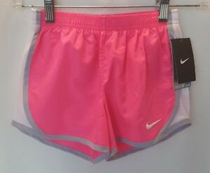NWT Nike Girl's Dry Fit Stay Cool Shorts - Size 6X - PinkWhite
