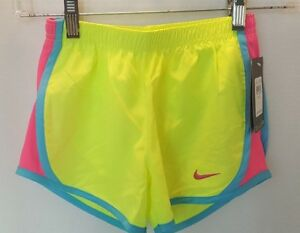 NWT Nike Girl's Dry Fit Stay Cool Shorts - Size 6X - YellowPinkBlue
