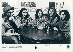 1972 1970s British Rock Band Head Hands & Feet Albert Lee T Colton Press Photo
