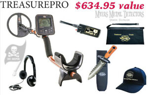 Whites Treasure Pro Metal Detector Loaded GEARED UP Bundle & Free Fast Ship