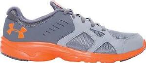 Boy's Youth UNDER ARMOUR PACE RN GrayOrange Athletic Running Casual Shoes New