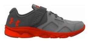 Boy's Youth UNDER ARMOUR PACE RN AC GrayOrange AthleticCasual Shoes New
